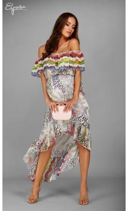 Ilga suknelė nėštukei JASMIN (tinka ir po nėštumo)